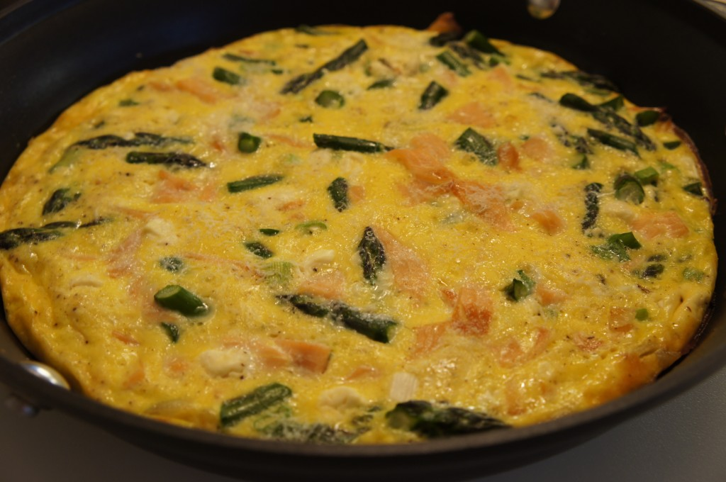 Smoked Salmon and Asparagus Frittata