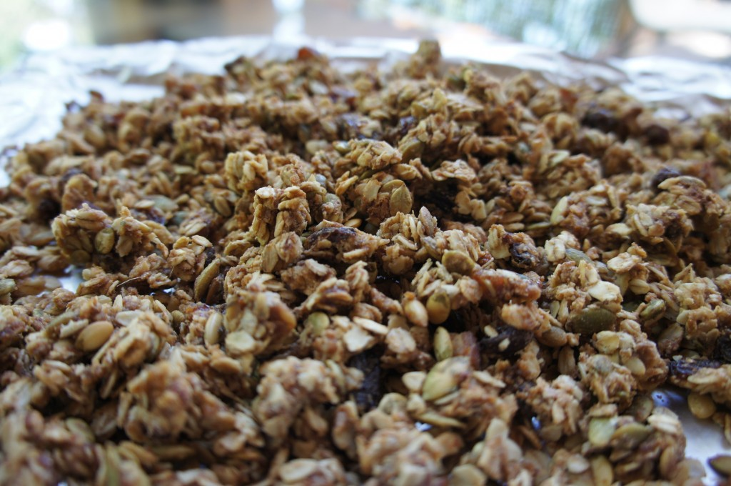 Whole Wheat granola fresh out of the oven!