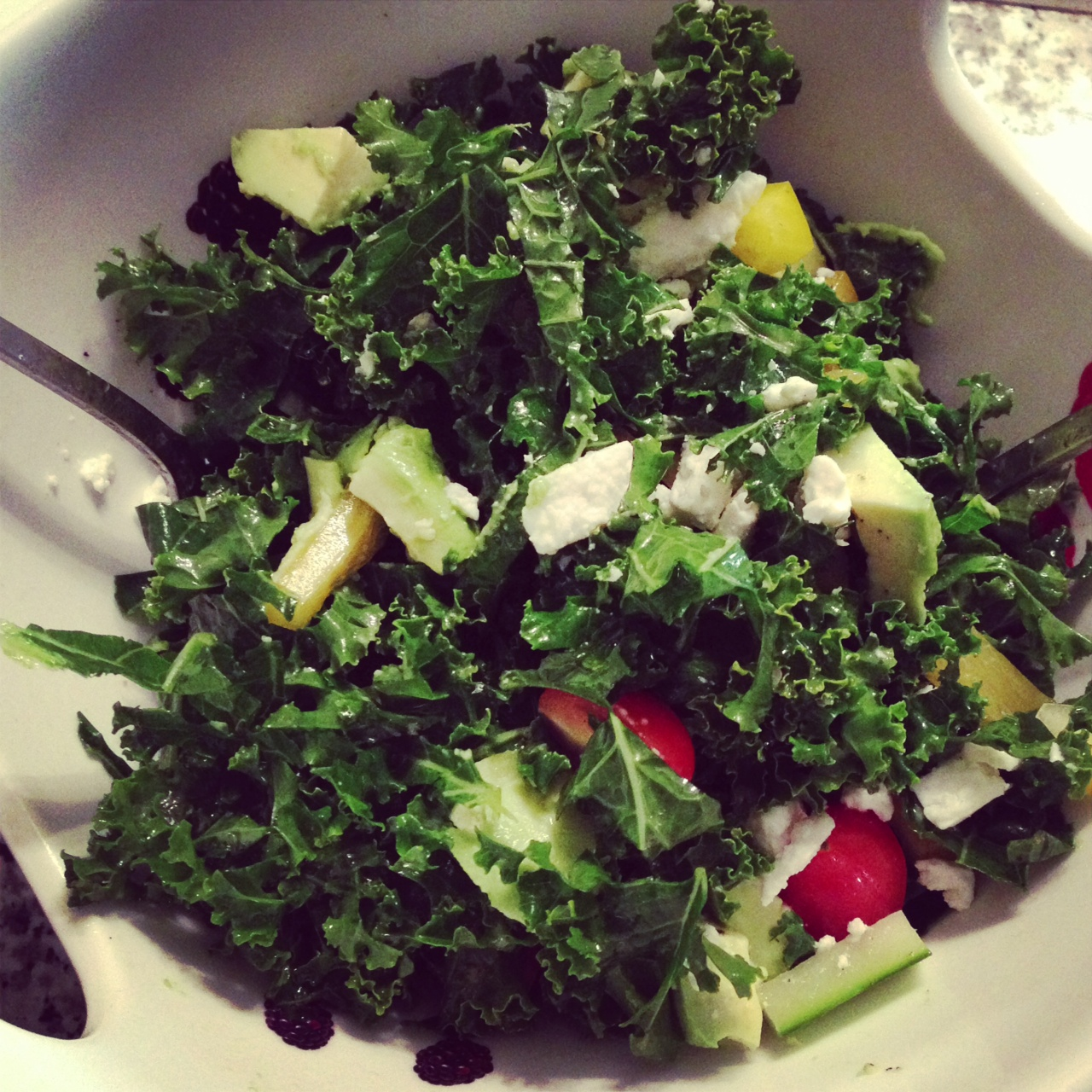 ... soon!), kale chips , garlicky sauteed kale and finally kale salad
