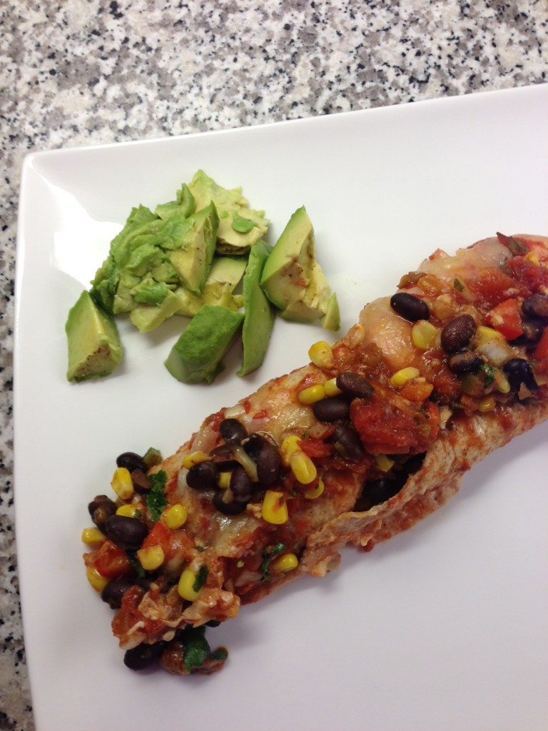 black bean enchilada