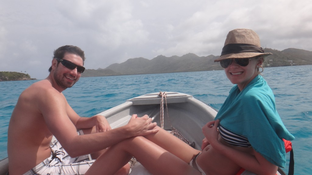 Chillin' on the boat after our snorkel