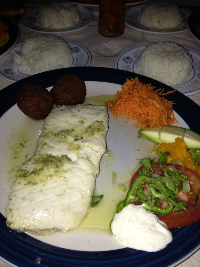 One of the best meals I've ever had: fresh barracuda with local fresh ingredients & flavors: mango, tomato, basil and plantain